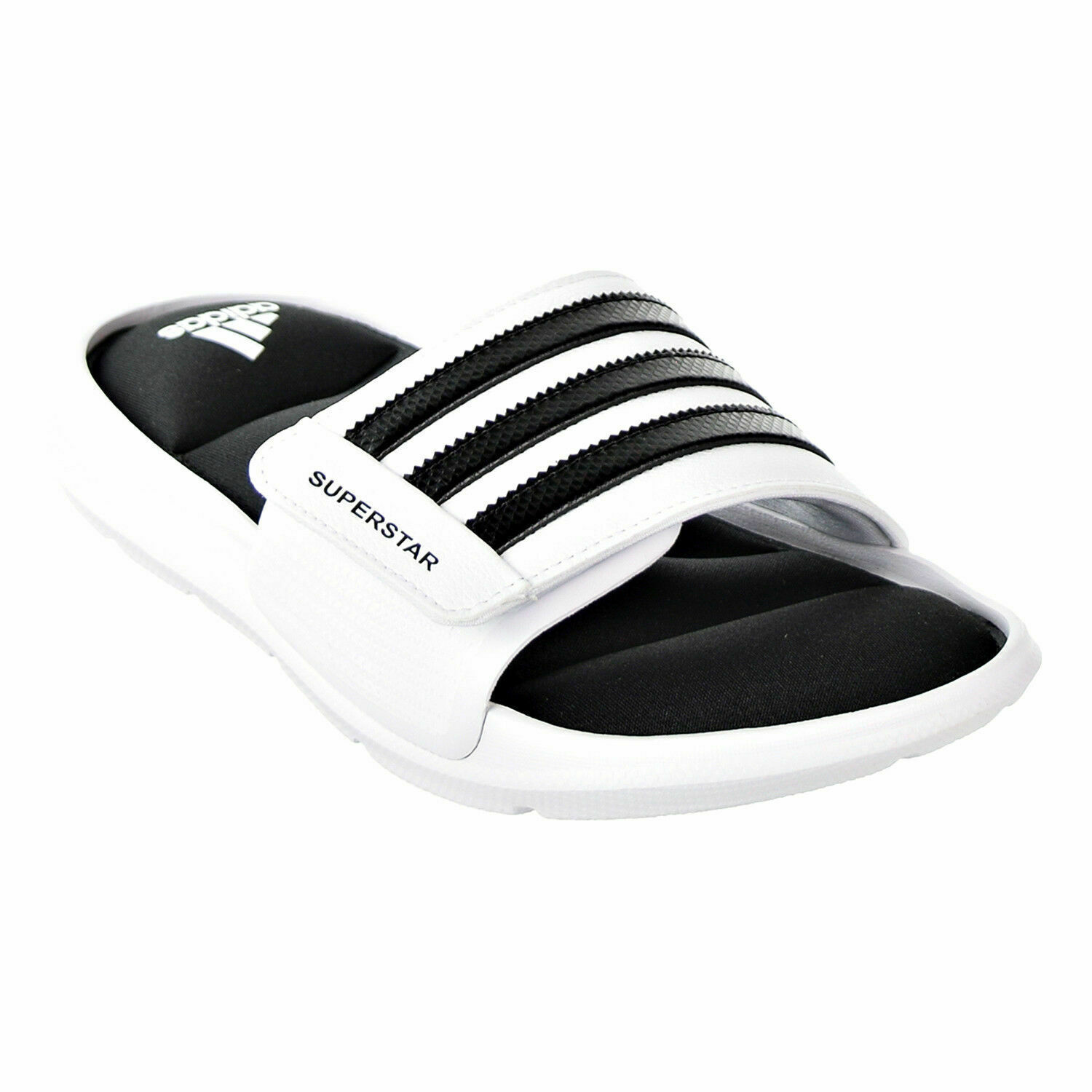 ADIDAS SUPERSTAR SURROUND MEMORY FOAM SLIDE SANDALS MEN SHOES WHITE SIZE 15 NEW