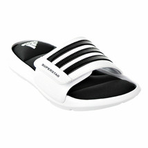 ADIDAS SUPERSTAR SURROUND MEMORY FOAM SLIDE SANDALS MEN SHOES WHITE SIZE... - $89.09