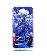 Pattern Printing TPU Gel Cover for LG X power2 - Wolf and Dream Catcher - $2.28