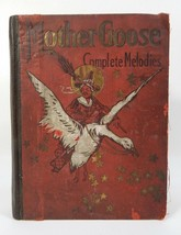 1892 BOOK MOTHER GOOSE'S COMPLETE MELODIES Antique 126 yr old Black Amer... - $118.79