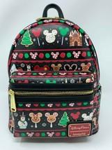 Disney Loungefly Christmas Holiday Treats Snacks Mickey Mini Backpack Bag 2019 - $78.20