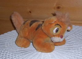 Disney OLIVER & CO Quality Plush Golden Striped Cat Ready to Pounce & Play - $16.89