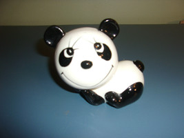 Panda Bear Piggy Bank Made in Japan Ceramic 70s Vintage - $27.99