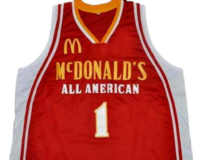 Tyreke Evans McDonald's All American Basketball Jersey Sewn Red Any Size
