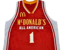 Tyreke Evans McDonald's All American Basketball Jersey Sewn Red Any Size image 1