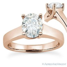 Forever Brilliant Oval Cut Moissanite Solitaire Engagement Ring in 14k Rose Gold - €585,78 EUR - €3.331,72 EUR