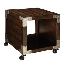 Standard Furniture Sullivan End Table on Casters in Brown Oak - $214.43