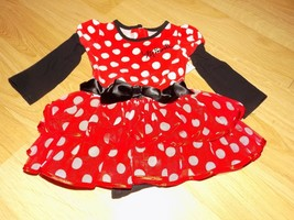 Size 12 Months Disney Baby Minnie Mouse One-Piece Costume Dress Tiered Ruffle - $24.00