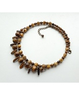 statement necklace tiger's Eye. - $68.00