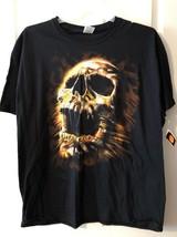 Halloween  T Shirt  SKULL Men's Sz LARGE  Fruit of the Loom Brand - $18.80