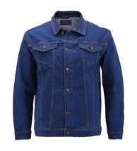 Men's Classic Multi Pocket Button Up Stretch Denim Casual Trucker Jean Jacket image 2