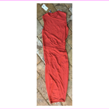 $1995 Narciso Rodriguez Red Drape Vented Dress, size 4, Italy 40 - $870.10