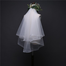 2 layers Tulle Women Wedding Veils White or ivory Comb fork - $19.90