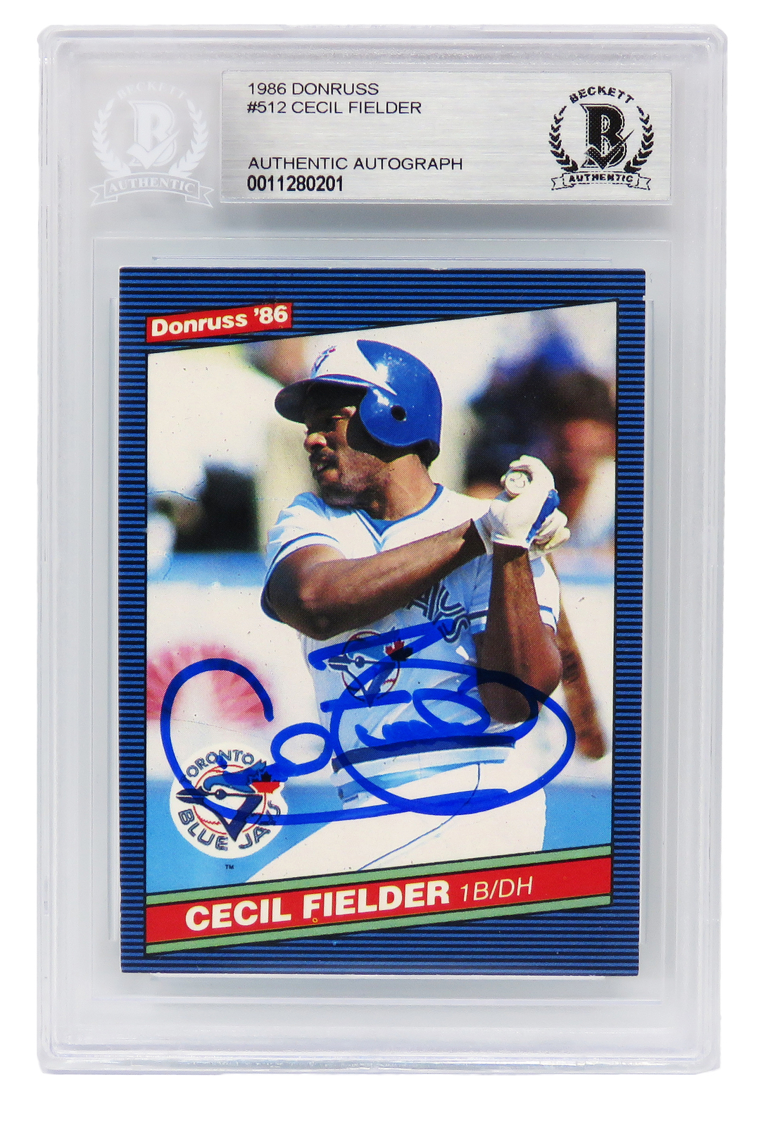 Primary image for Cecil Fielder Signed Toronto Blue Jays 1986 Donruss Baseball Rookie Card #512