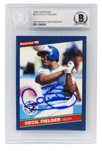 Cecil Fielder Signed Toronto Blue Jays 1986 Donruss Baseball Rookie Card... - $65.00