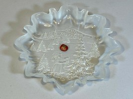 Original Walther Glas Clear Frosted Dish Bowl Mikasa Christmas Holiday E... - $36.99