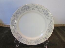 Johann Haviland Bavaria China Bread Butter Plate Rhineland Blue Grey Scroll - $1.93