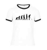Evolution of Man Golfer Ringer T Shirt - Golf Tee - $12.90