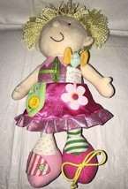 Manhattan Toy Dress Me Pink Blond Doll Zip Tie Button Flower Plush Girl ... - $14.99