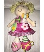 Manhattan Toy Dress Me Pink Blond Doll Zip Tie Button Flower Plush Girl ... - $14.84