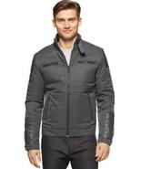 Calvin Klein Mens Full Zip Motorcycle Jacket True Grey Size XL MyAFC - $62.98