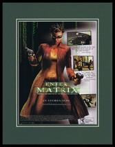 Enter the Matrix 2003 XBox Framed 11x14 ORIGINAL Advertisement - $34.64