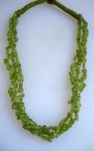 peridot gemstone beads necklace strand rajasthan india - $87.12