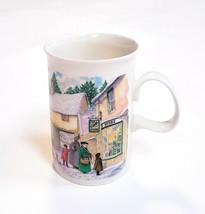 Dunoon Fine Stoneware Scotland Christmas Past Coffee Mug Cup Window Shop... - $16.47