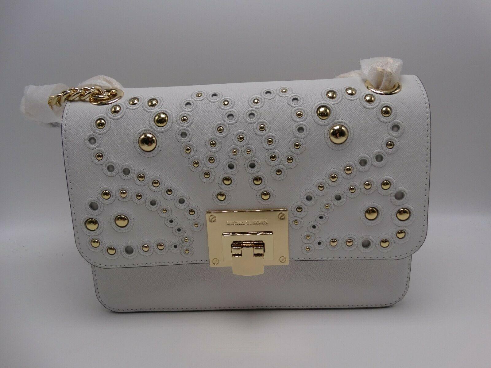 6a4b02d8e9b6 Michael Kors Tina Optic White Gold Stud and 50 similar items