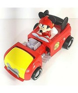 Mickey Mouse Hot Rod Transforming Car 2016 Mattel Plastic Roadster Racers  - $12.95