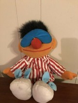Tyco 1996 Sesame Street Sleep And Snore Ernie Talking Works! Bedtime Paj... - $21.78