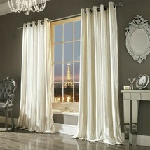 KYLIE MINOGUE ILIANA OYSTER LINED VELVET ANNEAU TOP CURTAINS DRAPES 5 SIZES - $157.26+