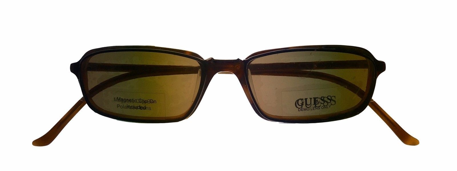 Guess Ophthalmic Mens Eyeglass Plastic Rectangle 1331 Demi Amber image 6