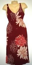 Gauze Tropical Cruise Sundress Beach Hawaiian Flower Summer Dress Sz 8 - €6,17 EUR