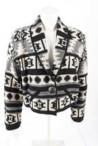 New Identity Aztec Womens Crop Jacket Blazer M Southwestern Boho Tapestr... - $54.45