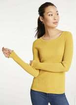 NWT Womens Ann Taylor L/S Dandelion Perfect Pullover Ribbed Sweater Sz L... - $26.72