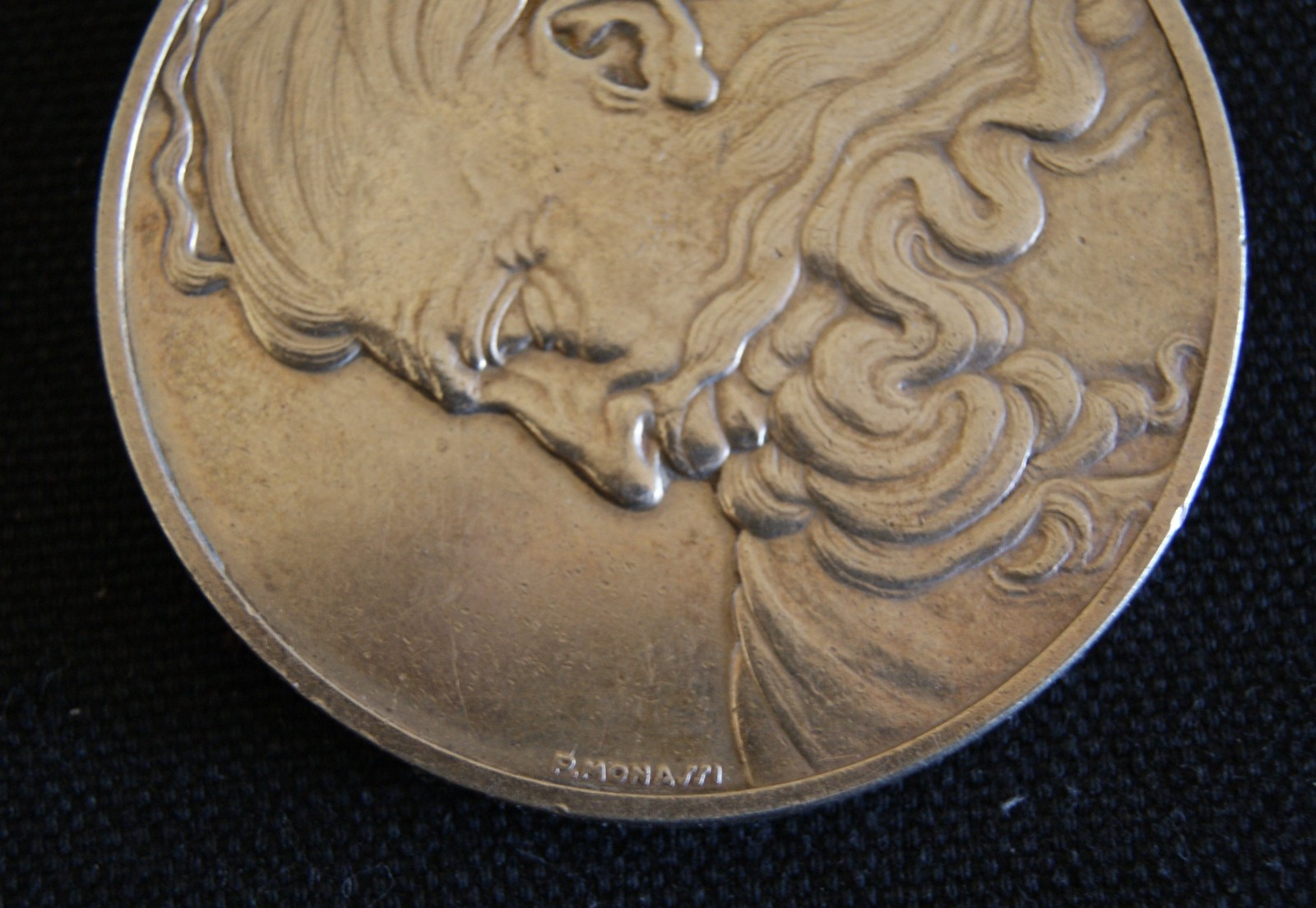 The Head Of God, The Genius of  Michelangelo 1.3 oz. 925 Silver coin medal.