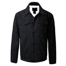 Junior Kids Boy's Premium Button Up Denim Fur Lined Trucker Sherpa Jean Jacket image 8