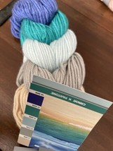 1 Skein Caron X Pantone Bamboo Yarn Bouncing Blue Medium (4) 180 Yards - $9.75