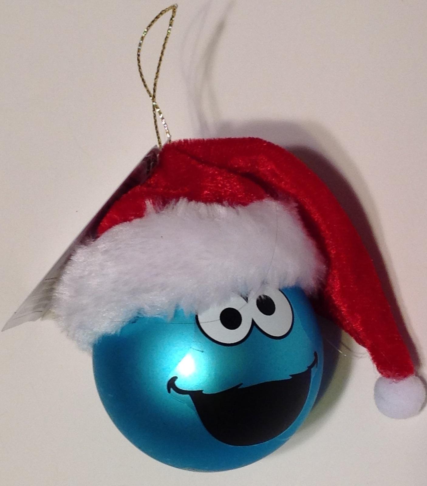 Christmas Ornament Blown Glass Cookie Monster Sesame Street Kurt Adler