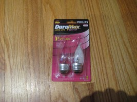 Philips Traditional Bent Tip Incandescent Bulb 60W BA9.5 Clear Medium Base. - $9.53