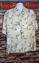 Iolani Hawaiian Aloha Shirt Mens XL Floral Flowers Rayon Made In Hawaii - $20.43
