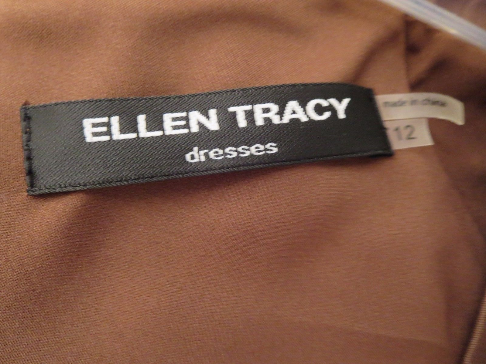 Ellen Tracy 70% OFF Women's Size 12 Dress Brown S/S Empire Waist New With Tags