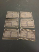 Disney Villainous Board Game Replacement Parts: 6 reference Cards  - $7.50