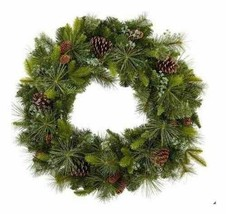 """NEW 32"""" Battery Operated 50 Dual Color Changing LED PreLit Christmas Wreath NIB"""