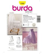BURDA 1980 BABY BASSINET DRESSING FOR NURSERY ~ SEWING PATTERN - $12.74
