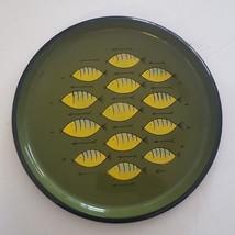 "Mid Century Mod Fish Platter Plastic Made in Japan 13"" Green Yellow - $26.70"