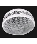 Retro Ceiling Light Shade Drum Disk 8 in White Clear Glass Flush Mount V... - $12.95