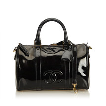 Pre-Loved Chanel Black Patent Leather Boston Bag France - $1,111.66