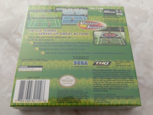 Virtua Tennis Nintendo Gameboy Advance GBA Brand New Factory Sealed Mint CIB VTG image 2